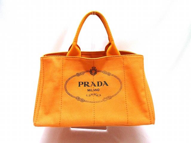 プラダ カナパ トートバッグ オレンジ