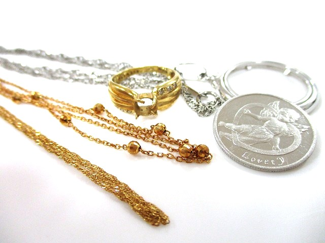 貴金属 金 ネックレス プラチナ  コイン