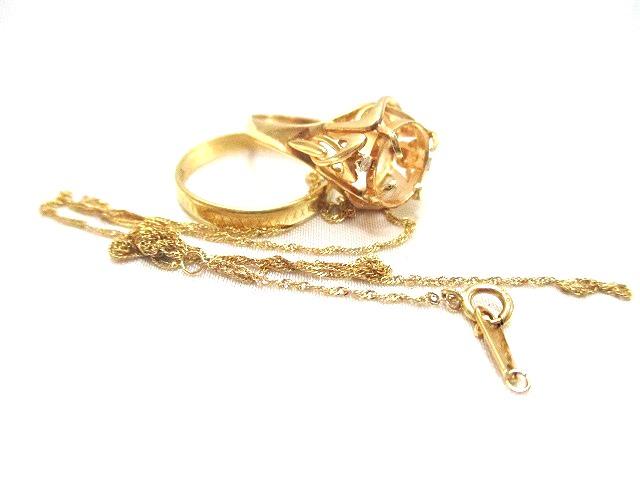 貴金属 K18 18金 ネックレス 指輪
