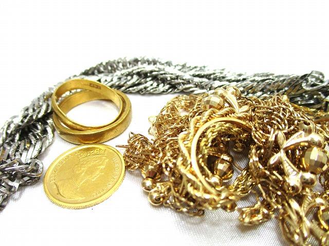 金 プラチナ 指輪 ネックレス